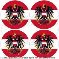 """AUSTRIA Osterreich, Austrian Vinyl Bumper-Helmet Stickers, Decals 2"""" (50mm) x4"""