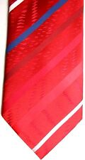 "Carbotti Men's Tie 60"" X 4"" Mostly Reds w/ Multi-Color British Stripes"