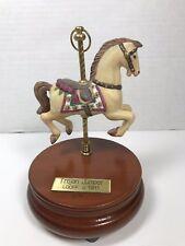 Trojan Jumper Looff C 1911 Music Box Carousel Horse Blue Danube