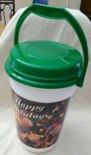 Disney Park Popcorn Bucket with Lid MIckey & Friends Happy Holidays Christmas