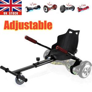 Black Premium Hoverkart Go Kart For Segway Balancing Board Hoverboard Scooter UK