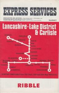 RIBBLE BUS TIMETABLE LFT LANCASHIRE-CARLISLE SEP 1972