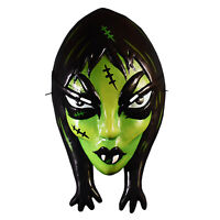 Adult Womens Toxictoons Ghoulena Halloween Costume Mask Green Monster Bride