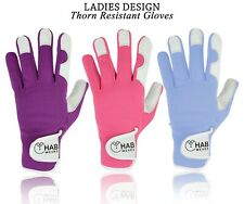 Ladies Gardening Leather Gloves Thorn Proof Garden Mechanic Builder work Gloves