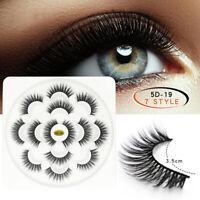 7 Pairs 3D 5D Mink Soft Long Natural Thick Makeup Eye Lashes False Eyelashes New