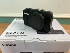 Canon EOS M body only (includes battery, charger, strap, manuals, USB) - NEW