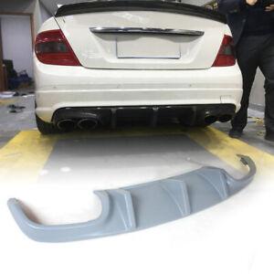 Rear Bumper Lip Diffuser Lower Spoiler for Mercedes Benz W204 C63 AMG 2008-11