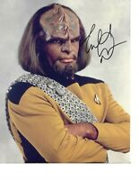 """Michael Dorn """"Worf"""" Star Trek TNG Hand Signed Autographed Photo In Person W/ COA"""