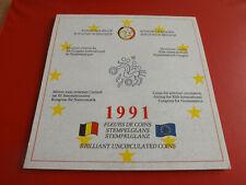 * Belgien Numismatischer Kongress 1991 Blister Satz 4 Münzen/18 ECU (Ki.2)