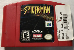 Spider-Man Game Authentic Original For Nintendo 64 Tested Rare N64-92R