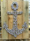 Miller Lite Anchor Beer Cap Art, Colorful Unique Wall Art. Free Shipping.