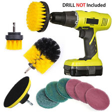 10Pcs/Set Tile Grout Power Scrubber Cleaning Drill Brush Combo Scrub Tub Cleaner