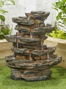 Red Rock Springs inc LED By Kelkay Easy Fountain Water Feature 45203L