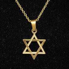 Davidstern Halskette Jüdisch Hexagramm David Glücklich Edelstahl Amulett Israel