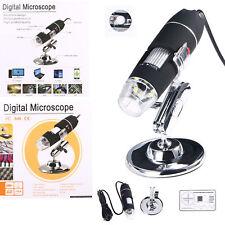 1600X USB Digital 8 LED Mikroskop Lupe Fach Endoskop Video HD Microscope Kamera