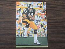 2001 Lynn Swann Goal Line Art Card Pittsburgh Steelers