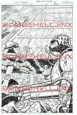 DC THE SHIELD #4 Page 15 Original Art By Cliff Richards