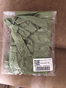 Green Linen Short Dungerees Size 2xl (14)