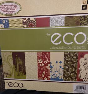 "The Eco Stack: 12""X12"" 48/Pkg Textured Cardstock - Scrapbooking Paper DCWV"