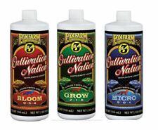 Fox Farm Cultivation Nation Trio Grow Bloom Micro Quart 3 Bottles 32oz each