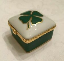 "Le Tallec for Tiffany & Co - Four-Leaf ""Lucky"" Clover Hand-painted Box"