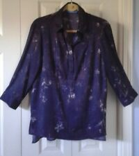 SIMPLY VERA WANG Unique Baby Doll Top Blouse ~ Size Medium *Soft & Breezy* NWOT