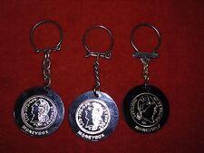 Porte-clé Keychain X 3 Jetons Moneybox Louis XVIII louis XV en plastique & OR