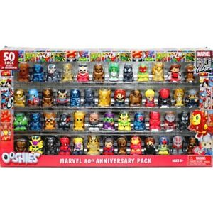 Marvel Ooshies 80th Anniversary 50 Figures Pack with 20 Exclusives Collectible