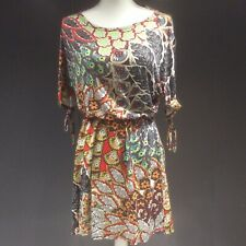 River Island Chelsea Girl Vintage Retro 60's Mini Dress Boho Festival Size 10