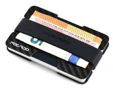 Kreditkartenetui mit Geldklammer - CARBON Portmonee RFID Schutz Slim Mini Wallet