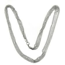 14 KT WHITE GOLD 16 INCH MULTI STRAND CHAIN NECKLACE