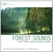 FOREST SOUNDS CD w/ Soft Rain & Gentle Wind. Nature Sounds Deep Sleep Relaxation