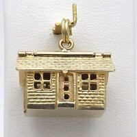 14k Gold Vintage House Charm Opens Home Furniture