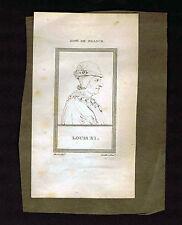 France-Louis XI & Simon-Nicholas Henri Linguet-1809 Copper Plate Portrait Prints