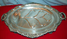 GEORGIAN STERLING TRAY RARE  ENGLISH  C 1829 IMPORTANT   BY:EDWD BARNARD-265 OZ