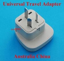 UK USA EURO to Australia China New Zealand Travel Adaptor AC Power Plug Adapter