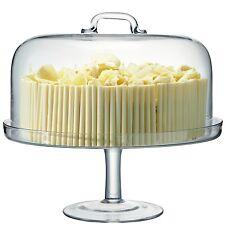 LSA Servir Plat à tarte & Dôme Transparent 34.5cm/32cm