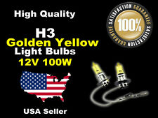 USA Seller Xenon Light Bulb Headlight -12v 100w Golden Yellow H3 Fog Light-A