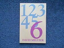 Six by David Meltzer (1976, Paperback)