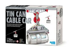 (CLASSPACK OF 12) TOYSMITH 4M 5575 TIN CAN CABLE CAR DIY KIT Ages 8+