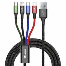 Baseus 4in1 Ladekabel Kabel USB-C Typ-C Lightning Micro-USB 3,5A 1,2m Nylon
