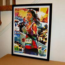 Boston Marathon Runner Massachusetts Athlete Sports Poatr Print Wall Art 18x24