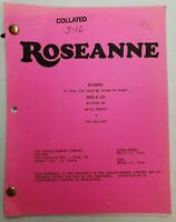 """ROSEANNE / Kevin Abbott 1994 TV Script, """"I Pray the Lord My Stove to Keep"""""""