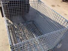 Collapsible Stacking Storage Bin - Wire Basket - 40x48 - 30 Inches Tall