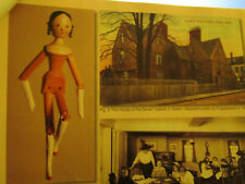 15pg Peg Wooden Doll House History Article / HEPZIBAH'S MILKMAIDS /SEVEN GABLES