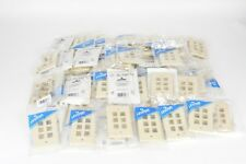 Leviton 41080-6IP Electrical Wall Plate QuickPort Six-Port 1Gang Ivory Lot of 65
