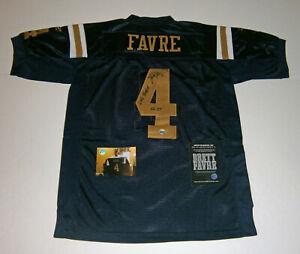2008 JETS Brett Favre signed Titans jersey w/ 6 TDs 9/28/08 COA AUTO Autographed