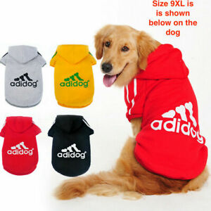 Dog Shirt Adidog Dog SweatShirt Clothes Warm Hoodie Coat Hooded Sweatshirt NEW