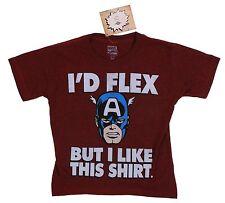 Kid's Marvel Mad Engine Burgundy Captain America Tee Ages 5-6 T-Shirt