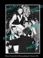 OLD HISTORICAL PHOTO OF FITZROY FC GREAT KEVIN MURRAY PLAYING FOR VICTORIA 1964